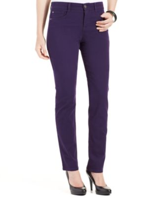 Image of Style & Co Petite Slim-Leg Tummy-Control Jeans, Created for Macy's