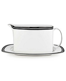 kate spade new york Union Street Gravy Boat with Stand