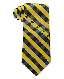 Eagles Wings Iowa Hawkeyes Checked Tie