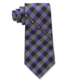 Eagles Wings Colorado Rockies Checked Tie