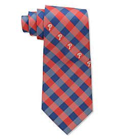Eagles Wings Philadelphia Phillies Checked Tie