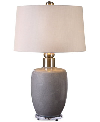 Uttermost Ovidius Gray Glaze Table Lamp