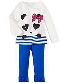 Baby Girls' Panda Tee & Solid Bow Leggings