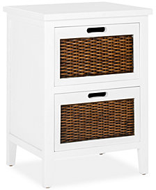 Lysette 2 Drawer Cabinet, Quick Ship