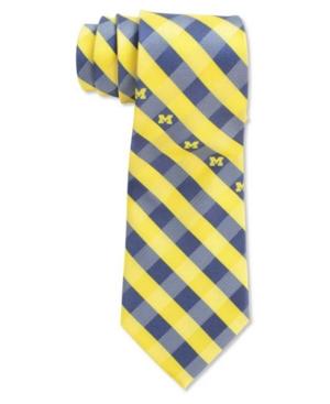 Michigan Wolverines Checked Tie