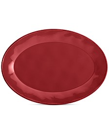 Cucina Cranberry Red Oval Platter