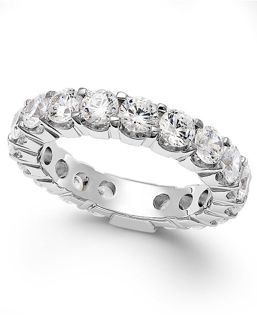 Macy's Diamond Sizable Prong Eternity Band in 14k White Gold (3 ct. t.w.)