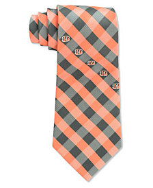 Eagles Wings Cincinnati Bengals Checked Tie