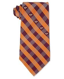 Eagles Wings Virginia Tech Hokies Checked Tie