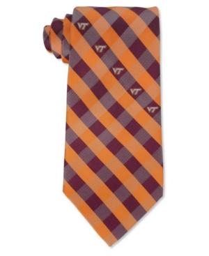 Virginia Tech Hokies Checked Tie