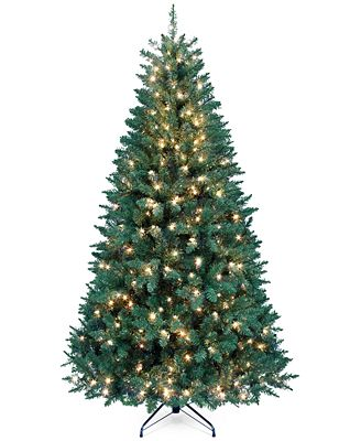 Kurt Adler 7' Pre-Lit Pine Christmas Tree - Holiday Lane ...