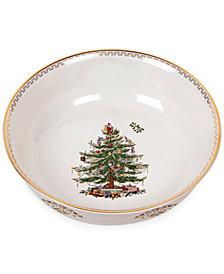 "Spode Christmas Tree Gold Large Bowl 10"""
