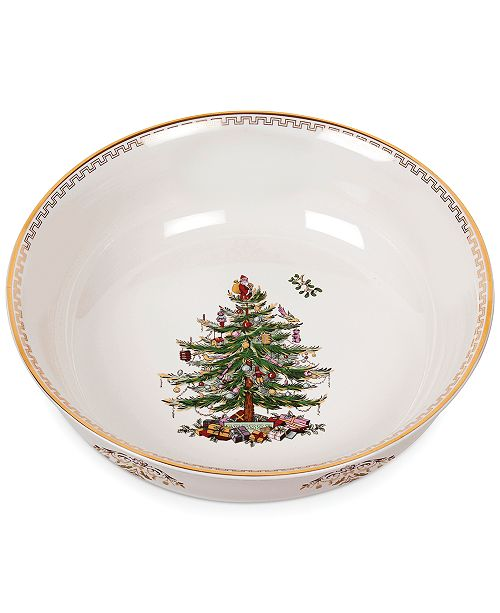 "Spode Christmas Tree Gold Large 10"" Bowl"