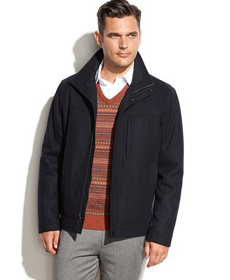 London Fog Bethany Wool-Blend Bomber Jacket - Coats &amp Jackets