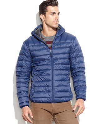 Hawke & Co. Outfitter Lightweight Hooded Packable Down Jacket ...