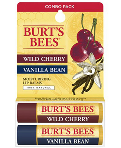 Burt's Bees 2-Pc. Wild Cherry & Vanilla Bean Lip Balm