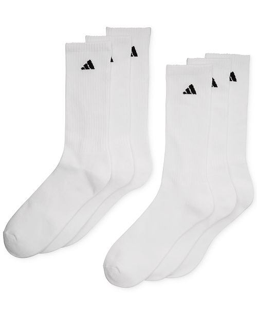 adidas Men's Cushioned Athletic 6-Pack Crew Socks