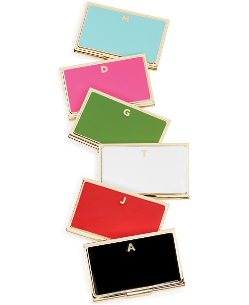 kate spade new york one in a million initial business card holder 13 reviews main image - Kate Spade Business Card Holder