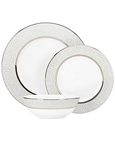 Pearl Beads 3 Piece Place Setting