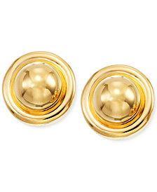 Signature Gold™ Button Stud Earrings in 14k Gold over Resin