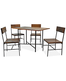 Karina Rectangle 5 Piece Bar Table Set, Quick Ship