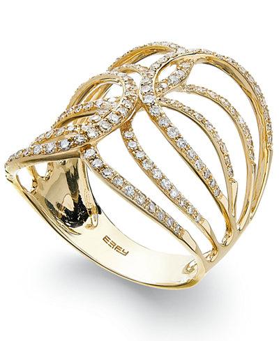 D'Oro™ by EFFY Diamond Swirl Ring in 14k Gold (1/2 ct. t.w.)