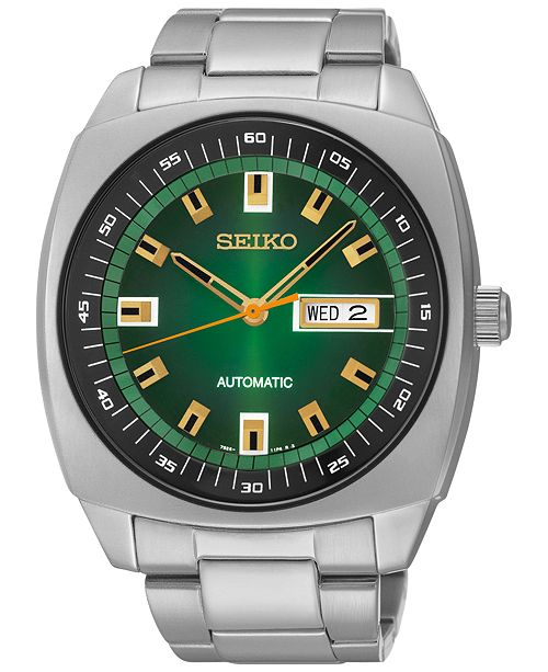 Seiko Men's Automatic Stainless Steel Bracelet Watch 44mm SNKM97