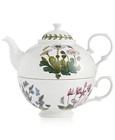 Portmeirion Drinkware, Botanic Garden Tea Set for One