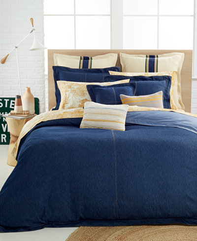 CLOSEOUT! Tommy Hilfiger Herringbone Stripe European Sham
