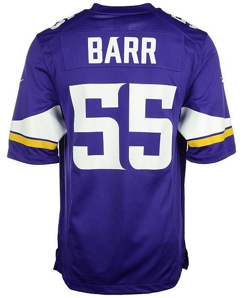 b2bba369 Nike Men's Anthony Barr Minnesota Vikings Game Jersey & Reviews ...