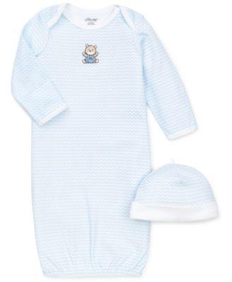 Baby Boys Chevron Hat & Gown Set