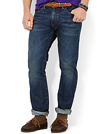 Polo Ralph Lauren Men's Varick Slim Straight Warwick-Wash Jeans