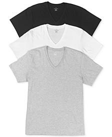 Men's Cotton Classics Short Sleeve V-Neck T-Shirts Classic Fit