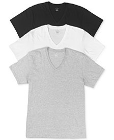 Calvin Klein Men's Cotton Classics Short Sleeve V-Neck T-Shirts Classic Fit