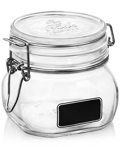 Bormioli Rocco Fido Chalk Label Small Jar, 17.5 oz.