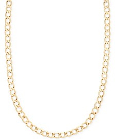 "22"" Curb Chain Necklace (5-1/10mm) in 14k Gold"