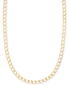 "Italian Gold 22"" Curb Chain Necklace (5-1/10mm) in 14k Gold"