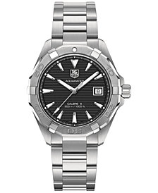 TAG Heuer Men's Swiss Automatic Aquaracer Stainless Steel Bracelet Watch 41mm WAY2110.BA0910