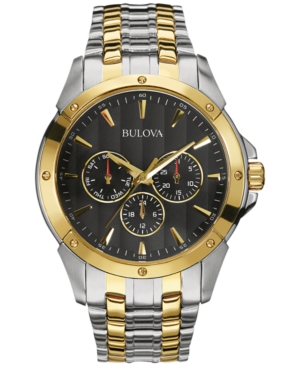 Bulova Men's Two-Tone Stainless Steel Bracelet Watch 43mm 98C120