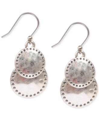 Image of Lucky Brand Double Disc Drop Earrings