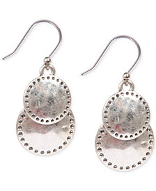 Lucky Brand Double Disc Drop Earrings