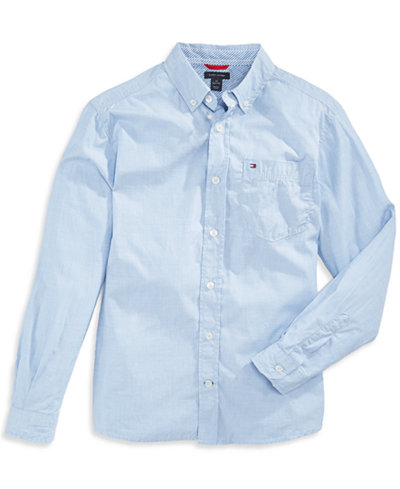 Tommy Hilfiger Button-Down Shirt, Little Boys - Shirts & Tees ...