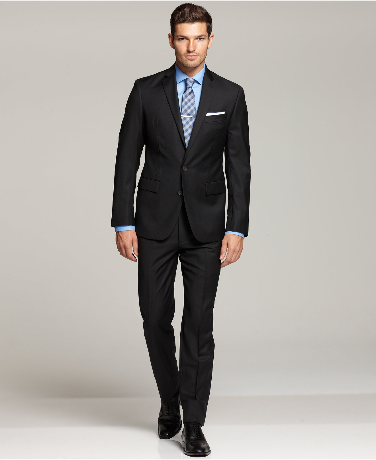 Ryan Seacrest Distinction Black Solid Modern Fit Suit Separates ...