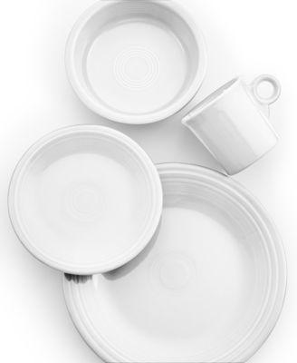 main image  sc 1 st  Macyu0027s & Fiesta White 4-Piece Place Setting - Dinnerware - Dining ...