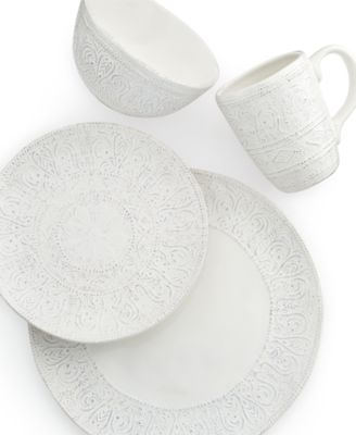 Maison Versailles Dinnerware Blanc Colette 4 Piece Place Setting  sc 1 st  French-Luxury.com & French country dinnerware for relaxed entertaining and family meals.