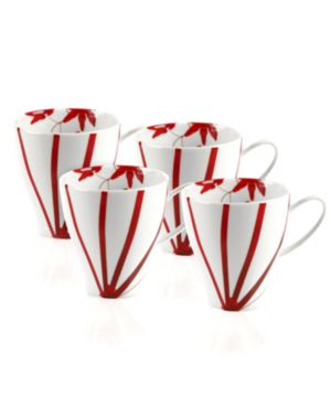 Mikasa Dinnerware, Set of 4 Pure Red Mugs