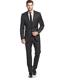 BOSS HUGO BOSS Charcoal Solid Slim-Fit Suit