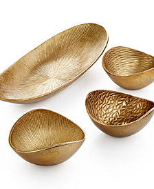 Simply Designz Serveware, Organic Metallic Collection
