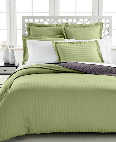 Closeout charter club damask stripe 500 thread count pima for Pima cotton comforter