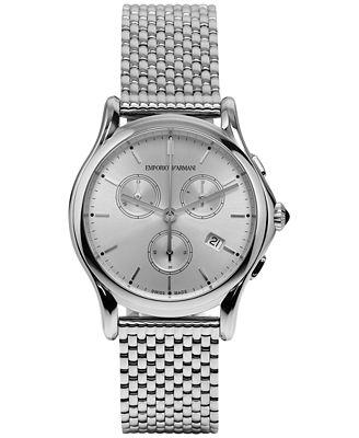 Emporio Armani Unisex Swiss Chronograph Stainless Steel Bracelet Watch 36mm ARS6007